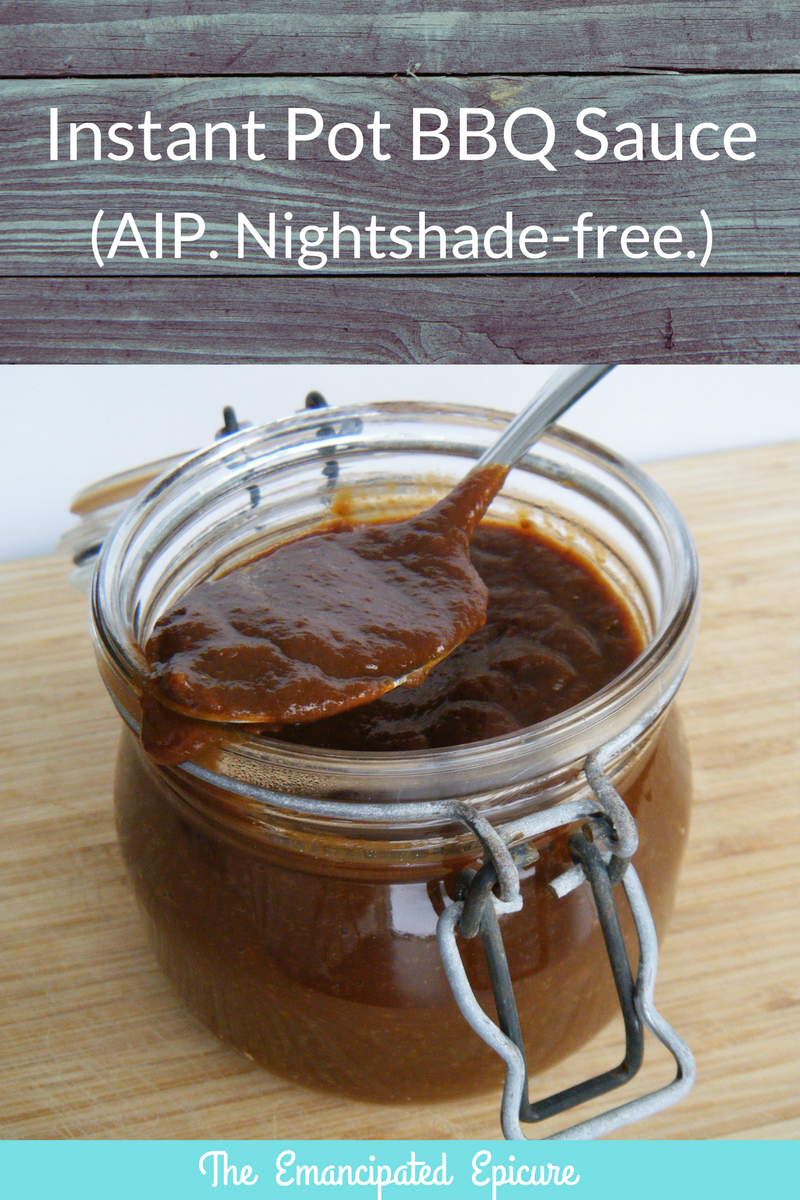 Instant Pot BBQ Sauce (AIP & nightshade free)